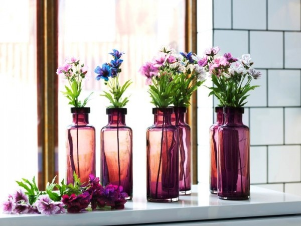 floral-repetition-stain-glass-bottles-and-wild-flowers-600x450