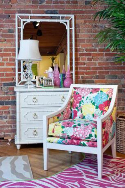 Lilly-Pulitzer-Armchair